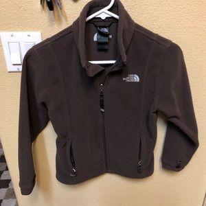 The North Face brown full zip jacket